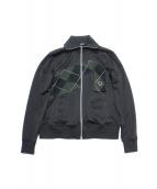 GROUND Y(グラウンドワイ)の古着「Jersey Rib Track Jacket」|ブラック