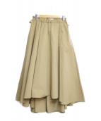 ETRE TOKYO(エトレトウキョウ)の古着「タイプライターボリュームスカート」 ベージュ