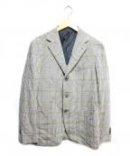 Errico Formicola(エリコフォルミコラ)の古着「ハウンドトゥース段返りジャケット」|グレー