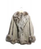Leder Crif(レイダークリフ)の古着「ラムムートンバンビファージャケット」|ブラウン