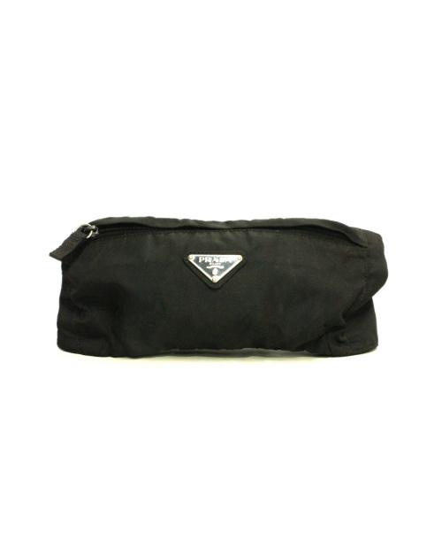 PRADA(プラダ)PRADA (プラダ) プレートウエストポーチ ブラック 84の古着・服飾アイテム