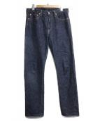 FULLCOUNT(フルカウント)の古着「リジッドデニムパンツ」|ブルー
