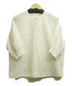 休日と詩(キュウジツトウタ)の古着「マルシェブラウス」|ホワイト