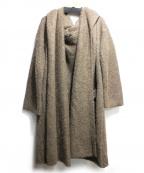 VERMEIL par iena()の古着「アルパカ混フード付カーディガン」|ブラウン