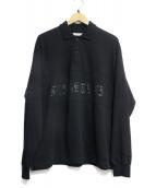FLAGSTUFF(フラッグスタッフ)の古着「L/S POLO SHIRTS」|ブラック