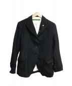 Paul Harnden(ポールハーデン)の古着「ウールリネンツイードブレザー」|ブラック