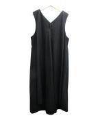 yuni(ユニ)の古着「80/2強撚ギャバワンピース」|ブラック