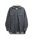 WESTOVERALLS(ウエストオーバーオールズ)の古着「DENIM SHIRTS」|ブラック
