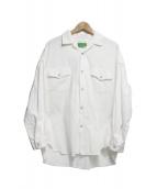 WESTOVERALLS(ウエストオーバーオールズ)の古着「DENIM SHIRTS」|ホワイト