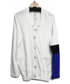 Jean Paul GAULTIER(ジャンポールゴルチェ)の古着「袖配色カーディガン」|アイボリー×ブルー