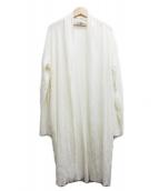 mizuiro-ind(ミズイロインド)の古着「シワ加工トッパーカーディガン」|アイボリー