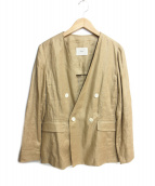 IENA(イエナ)の古着「フレンチリネンvネックジャケット」|ブラウン