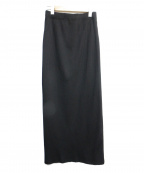 PHEENY(フィーニー)の古着「Pe/c WIDE RIB SIDE SLIT MAXI S」 ブラック