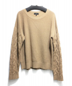 theory(セオリー)の古着「CABLE SLEEVE KNIT」|キャメル