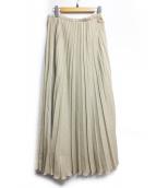 SLOBE IENA(イエナスローブ)の古着「リネンプリーツスカート」|ベージュ