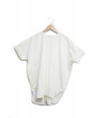 STUDIO NICHOLSON(スタジオニコルソン)の古着「ウーヴェンtシャツ」|アイボリー