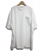 COG THE BIG SMOKE(コグ ザ ビッグ スモーク)の古着「ワイドデザインtシャツ」|ホワイト