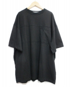 COG THE BIG SMOKE(コグ ザ ビッグ スモーク)の古着「ワイドデザインtシャツ」|ブラック