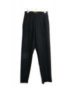 ISSEY MIYAKE MEN(イッセイミヤケメン)の古着「ダブルタックウールパンツ」 ブラック