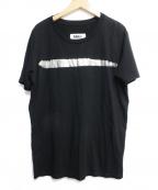 MM6(エムエムシックス)の古着「箔プリントtシャツ」 ブラック