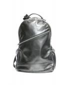 LUGGAGE LABEL(ラッゲジレーベル)の古着「レザーバックパック」 ブラック