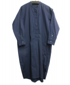 STUDIO NICHOLSON(スタジオニコルソン)の古着「TITO GRAPHITE shirtdress」|ネイビー