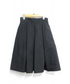 FOXEY NEWYORK(フォクシーニューヨーク)の古着「ストレッチタフタスカート」|ブラック