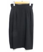 FOXEY BOUTIQUE(フォクシーブティック)の古着「タックタイトスカート」|ブラック