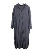 Noble(ノーブル)の古着「オープンカラーシャツワンピース」|グレー