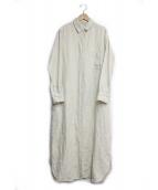 Plage(プラージュ)の古着「linenシャツワンピース」|アイボリー