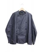nest Robe(ネストローブ)の古着「リネン顔料パティシエジャケット」|ネイビー