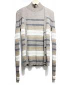 theory(セオリー)の古着「Regal Cashmere Stripe Shell」|ブラウン