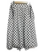 TOCCA(トッカ)の古着「PARASOLドットスカート」|ホワイト×ブラック