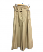 CLANE()の古着「SUPER WIDE MILITARY PANTS」|ベージュ