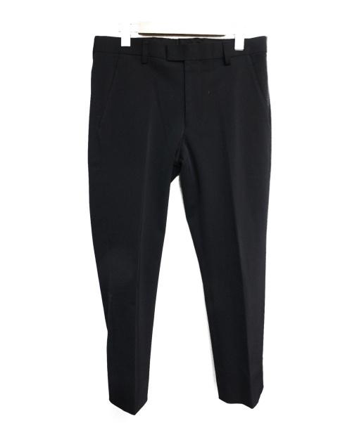 agnes b.(アニエスベー)agnes b. (アニエスベー) リザード刺繍センタープレスパンツ ネイビー サイズ:36の古着・服飾アイテム