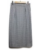 UNTITLED(アンタイトル)の古着「ピノギンガムストレッチスカート」|ネイビー×ホワイト