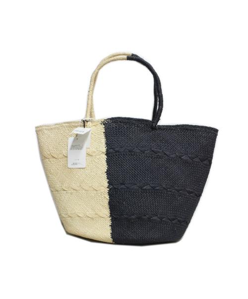 ARTESANO(アルテサーノ)ARTESANO (アルテサーノ) Genovesa Bag ネイビー×ベージュの古着・服飾アイテム