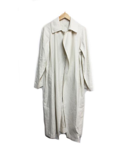 23区(ニジュウサンク)23区 (23ク) Vintage Soft Twill ラップコート ベージュ サイズ:32の古着・服飾アイテム