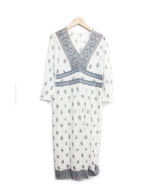 23区(ニジュウサンク)23区 (23ク) TOILE de JOUY PRINT ワンピース ホワイト サイズ:32の古着・服飾アイテム