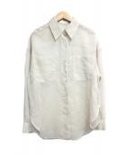 allureville(アルアバイル)の古着「ソフトオーガンジーシアーシャツ」|ベージュ
