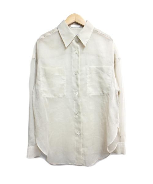 allureville(アルアバイル)allureville (アルアバイル) ソフトオーガンジーシアーシャツ ベージュ サイズ:2の古着・服飾アイテム