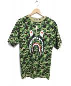 A BATHING APE(アベイシングエイプ)の古着「シャークプリントTシャツ」|グリーン