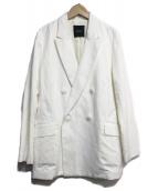 N.O.R.C(ノーク)の古着「コットンリネンキャンバスキープドラペルジャケット」|ホワイト