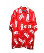 pellepelle(ペレペレ)の古着「ビッグサイズ総柄シャツ」|レッド
