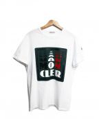 MONCLER()の古着「3D風ロゴプリントTシャツ」|ホワイト
