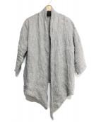 mizuiro-ind(ミズイロインド)の古着「リネンドレープカーディガン」|グレー