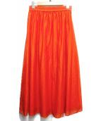 UNTITLED(アンタイトル)の古着「ソフトローンマキシスカート」|オレンジ