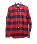 BROOKS BROTHERS Black FLEECE(ブルックスブラザーズ ブラックフリース)の古着「チェックBDシャツ」|レッド