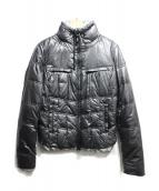 ARMANI JEANS(アルマーニジーンズ)の古着「コーティング中綿ジャケット」|シルバー