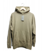 CIOTA(シオタ)の古着「スビンコットン吊り裏毛プルオーバーパーカー」|ベージュ
